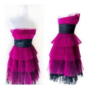 Vintage Betsey Johnson Party Dress Pink Chiffon. 6